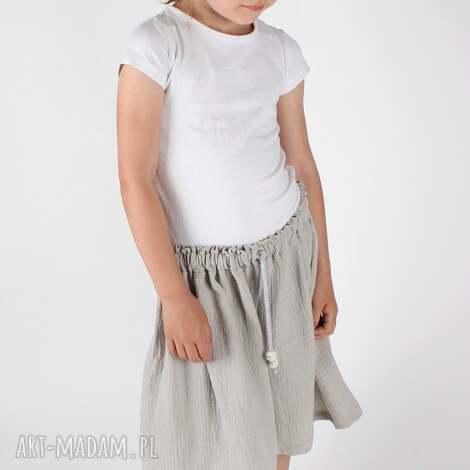 unikalne prezenty, ubranka muślinowa spódnica, dziewczynka, lato, muslin