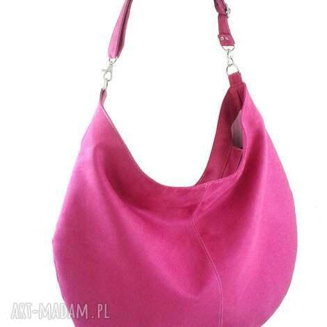 na ramię sack pink, torebka, hobo, worek, codzienna torebki