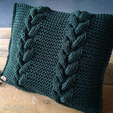 poduszka ze sznurka bawełnianego, poduszka, manufaktura, recznierobione, zielony
