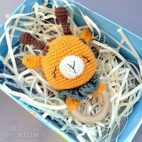 grzechotka - gryzak żyrafa, prezent, niemowlę dziecko zabawka
