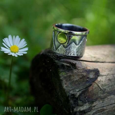korona ziemi, pierścień, srebro, szczyty, prezent, góry, obrączka, święta