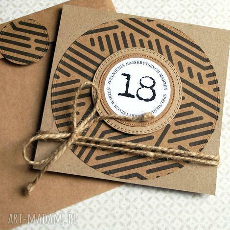 kartki 18-te urodziny kartka urodzinowa eco, na osiemnastkę