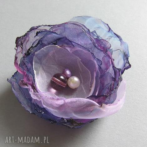 violet - organza, broszka, lekka