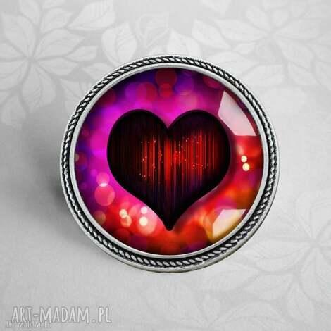 gorĄce serce - Śliczna broszka - broszka-serce, serduszko, z-sercem, walentynki