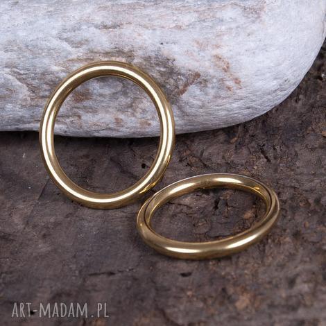 c082 pierścionek, obrączka z mosiądzu 1 szt, złoty, zmosiądzu, obrączka