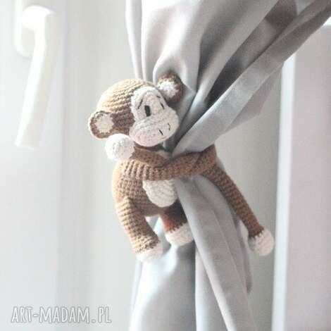 zawieszki do zasłon małpki, zawieszka małpka, dekoracja okna, dekoracja