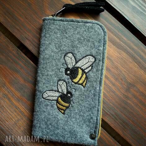 etui filcowe na telefon - pszczółki, smartfon, pokrowiec, futerał, pszczoła