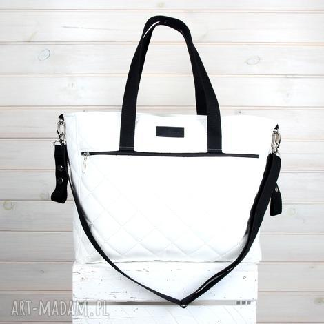 podróżne torba do wózka biała wodoodporna pikowana pojemna, torba, wózek, mama