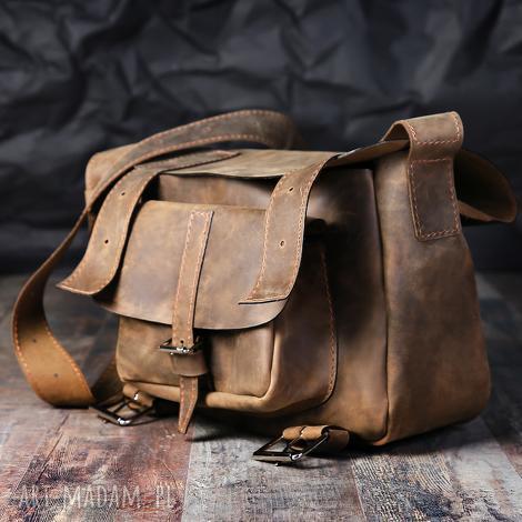 teczki torba skórzana unisex listonoszka, skórzana, aktówka, na laptopa