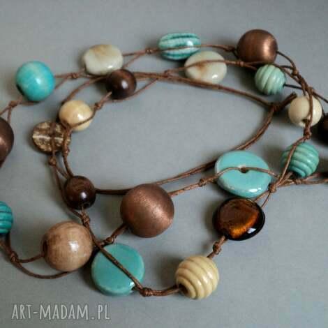 turquoise - korale, naszyjnik, długi