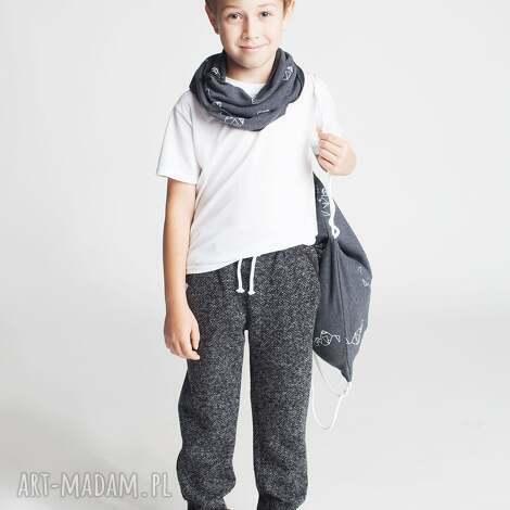ubranka spodnie chsp15b, eleganckie, dresowe, ściągacz, modne, stylowe, chłopięce dla