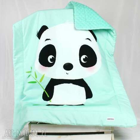 kocyk minky 100x75 panda - kocyk, panda, dziecko, niemowlak, minky, kołderka