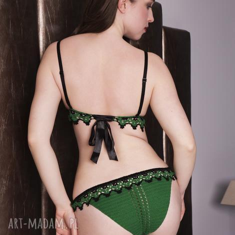 majtki natalie, majtki, panties, koronkowe, zielone, lingerie, bielizna