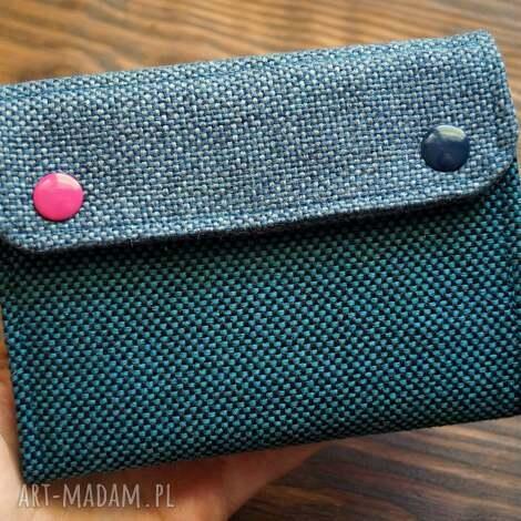 portfele materiałowy portfel - flamingi, portfelik, portmonetka, zakupy, polski