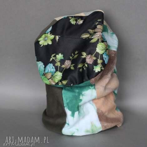 czapka damska wiosenna patchworkowa boho a1 - czapka, wiosna, etno, kolorowa, damska