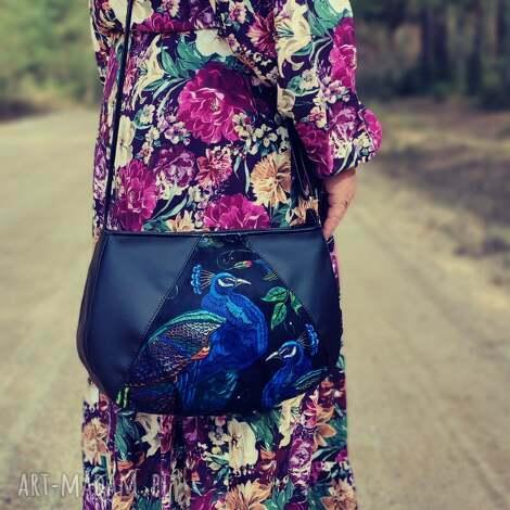 pod choinkę prezent, torebka - czarna i pawie, elegancka, nowoczesna, pakowna