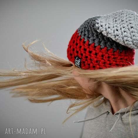 czapki czapka triquence 10 - czerwona, zimowa, na zimę