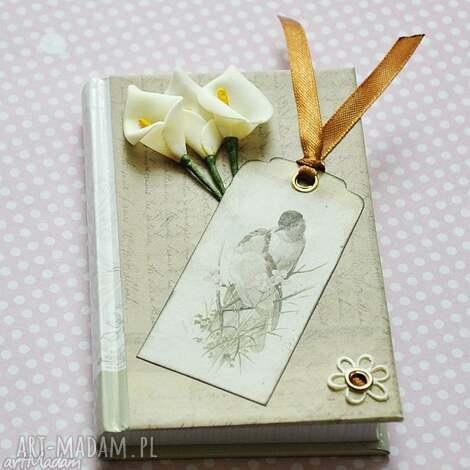 romantyczny notes, ptaki, kwiaty, romantyczny, scrapbooking, prezent