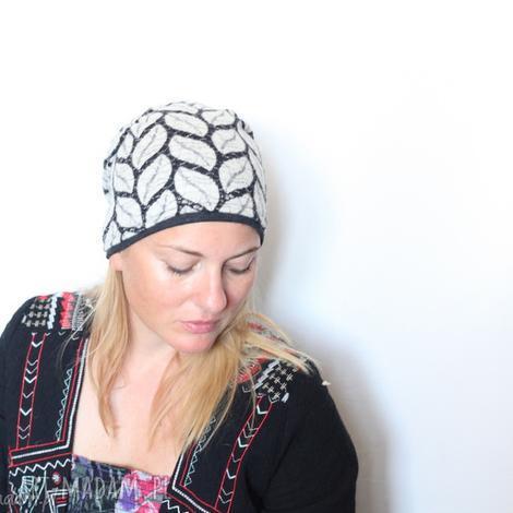 czapka dzianina ażurowa wiosenna klimatyczna cudna - czapka, azurowa, etno, damska
