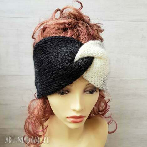 opaska retro turban - ombre, opaska, retro, na głowe, czapka