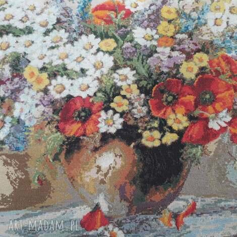 obraz - wyszywany haftem krzyżykowym, haft, krzyżykowy, cros stitch embroidery