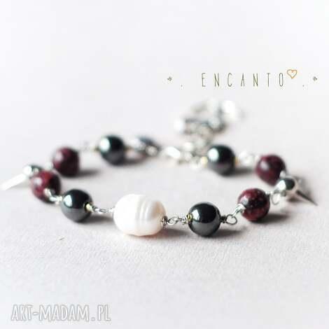 pirate pearl - kamienie, naturalne, perły, zawieszka, kotwica, glam