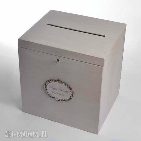 duże ślubne pudełko na koperty personalizowane, pudełka koperty, styl rustykalny