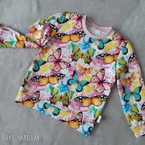 bluza dziewczęca w motyle, rozmiar 86, motylki, bluza