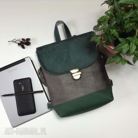 571bde992ce03 Plecaki zielone handmade do 175 zł. Zielony plecak zielony worek