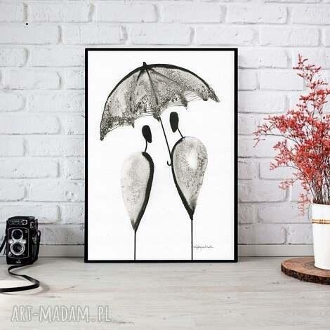 art krystyna siwek ręcznie malowany, abstrakcja, minimalizm, abstrakcja czarno-biała