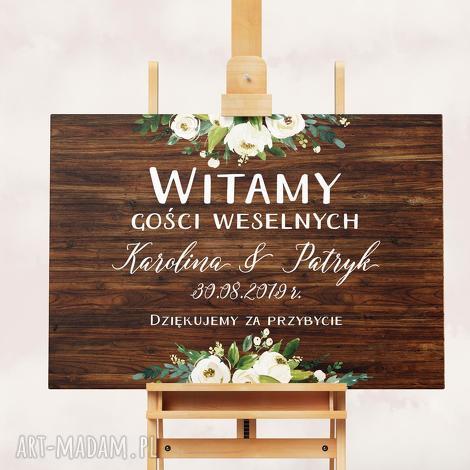 obraz powitalny 50x70 cm, plakat, obraz, kwiaty, plakat powitalny, ślub, wesele
