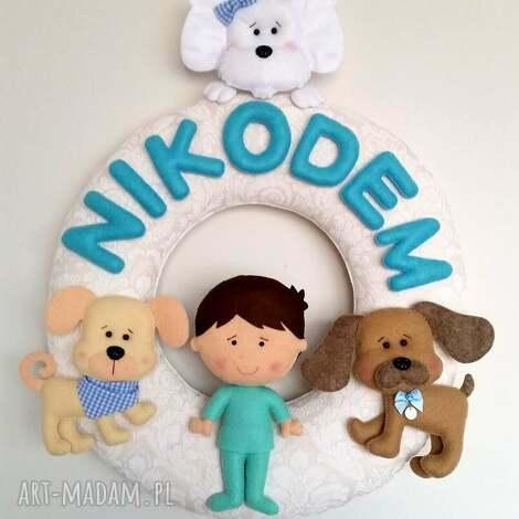 personalizowana girlanda z imieniem dziecka - filc, girlanda, dziecko, pokoik, prezent