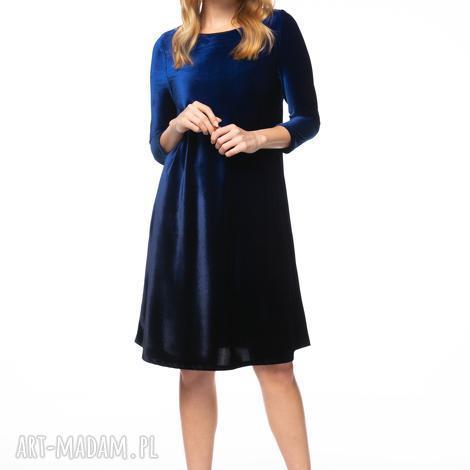 Pawel Kuzik - sukienka neda, welurowa, cieniowana ombre, jesienna, zimowa, oryginalna