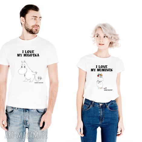 koszulki zestaw licencjonowanych koszulek dla par i love my migotka -on