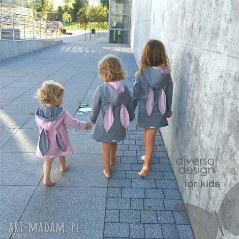 płaszczyk bluza różowa a kuku - płaszczyk, bawełna, bluza, królik