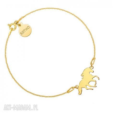 złota bransoletka z koniem, bransoletka, zawieszka, koń, konia, nowa kolekcja