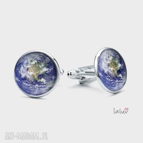 spinki do mankietów planeta ziemia - układ, słoneczny, świat, kosmos