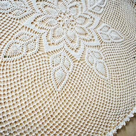 serweta na stół ręcznie robiona na szydełku - serweta, serwetka