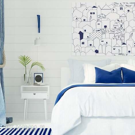 obraz na płótnie - domki minimalizm - 120x80 cm 67601 - domki, domy, minimalizm