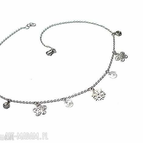 choker - alloys collection - Śniezynki vol 2 - stal, szlachetna, swarovski