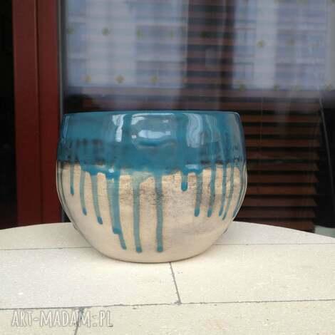 misa turkusowo-czarna, ceramika, misa, waza, glina, ceramiczna, turkus