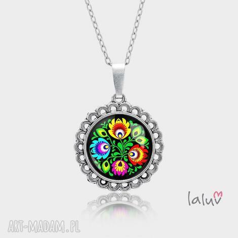 medalion okrągły mały folk love - folklor, polskie, wzory, ludowe, wycinanki