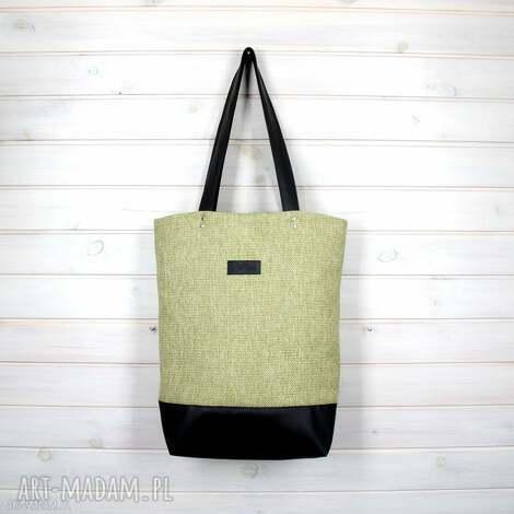 teczki limonkowa klasyczna torba pojemna zapinana, torebka, podróżna, pojemna, laptop