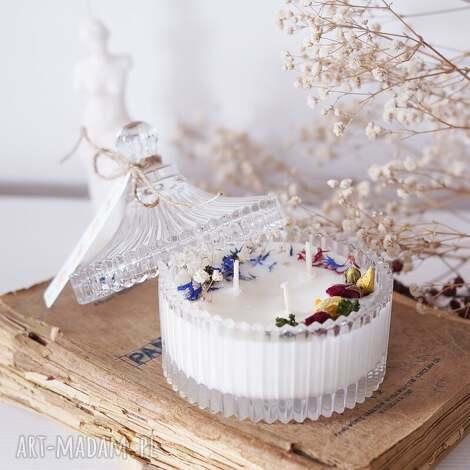 szkło świeca sojowa w szkle no 1, świeca, bomboniera, prezent dla niej