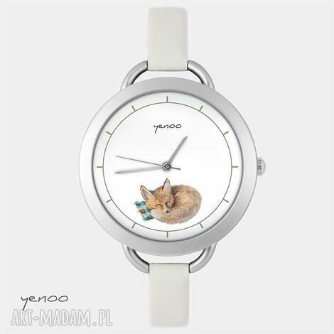 zegarki zegarek, bransoletka - lisek, bransoletka, skórzany, lis