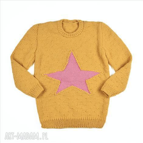 molito sweter-tunika gwiazda merynos dziecięcy, sweterek, wełniany, tunika