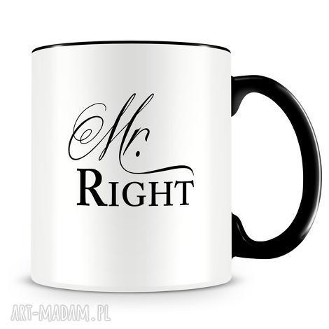 mr right - ceramiczny kubek z autorskim nadrukiem, kubek, mr