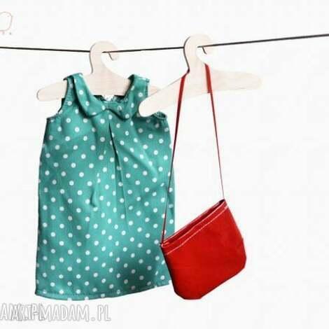zielona sukienka w groszki - outfit dla lalki, lalka, kot, szmacianka