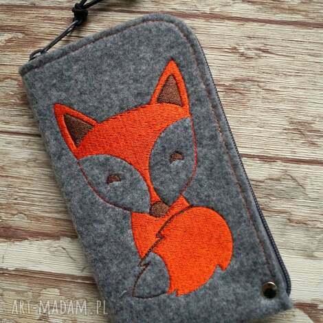 etui filcowe na telefon - lisek, smartfon, pokrowiec, zwierzaki, prezent