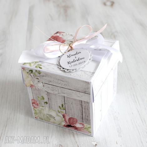 pudełko na ślub - kartka z życzeniami, prezent